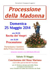 2014 Volantino Processione Madonna