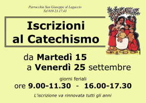2015 Locandina iscrizioni catechismo