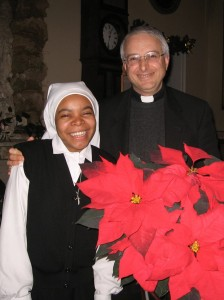 Taína, una ragazza originaria del Guaricano, che sta vivendo il noviziato da religiosa qui a Genova